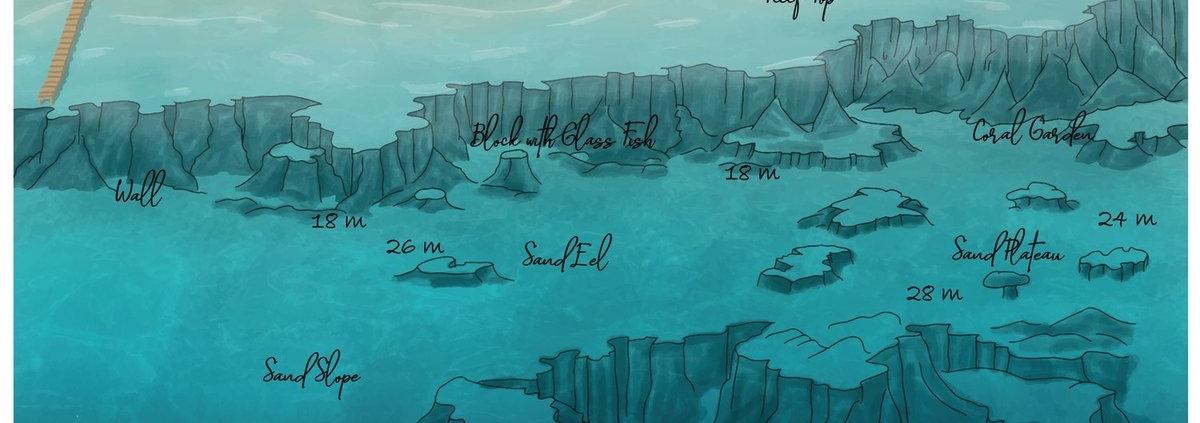 Shaab Alaya dive map