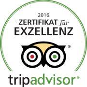 Zertifikat Tripadvisor