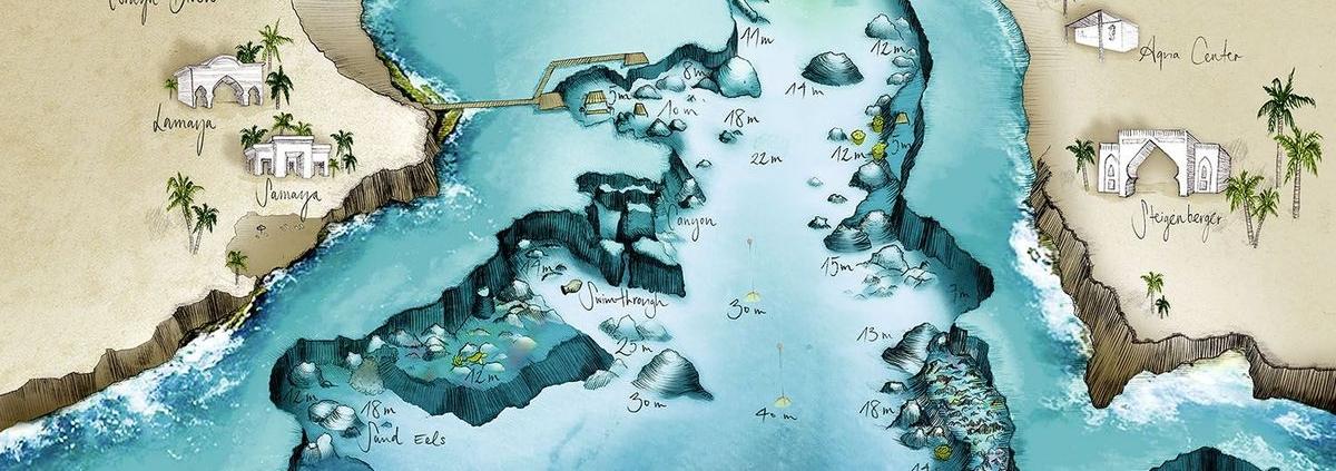Hausriff-Karte Coraya Bay