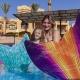 Meerjungfrau am Pool